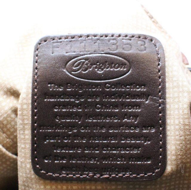 BRIGHTON Black White Leather Handbag 27950 6