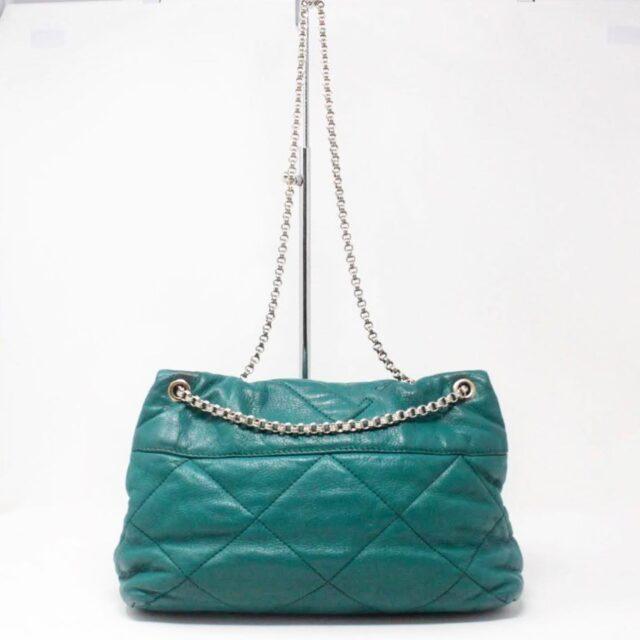 CAROLINA HERRERA Green Leather Handbag 27433 b