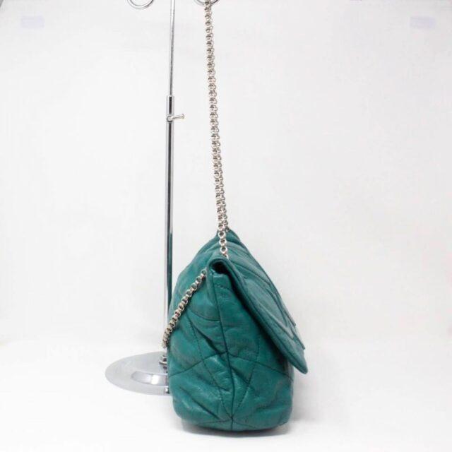 CAROLINA HERRERA Green Leather Handbag 27433 c