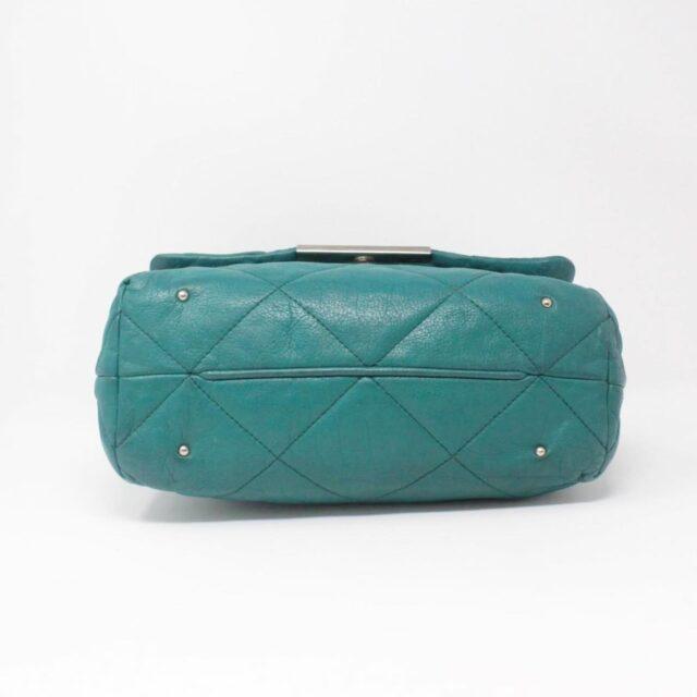CAROLINA HERRERA Green Leather Handbag 27433 d
