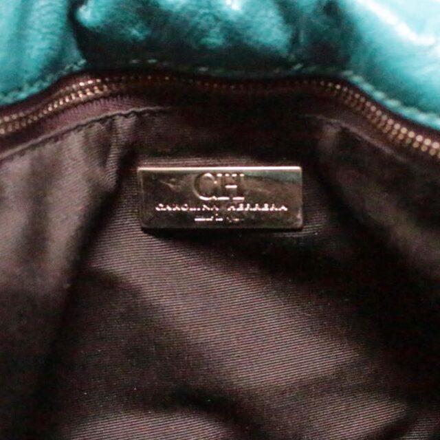 CAROLINA HERRERA Green Leather Handbag 27433 e