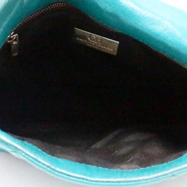 CAROLINA HERRERA Green Leather Handbag 27433 f