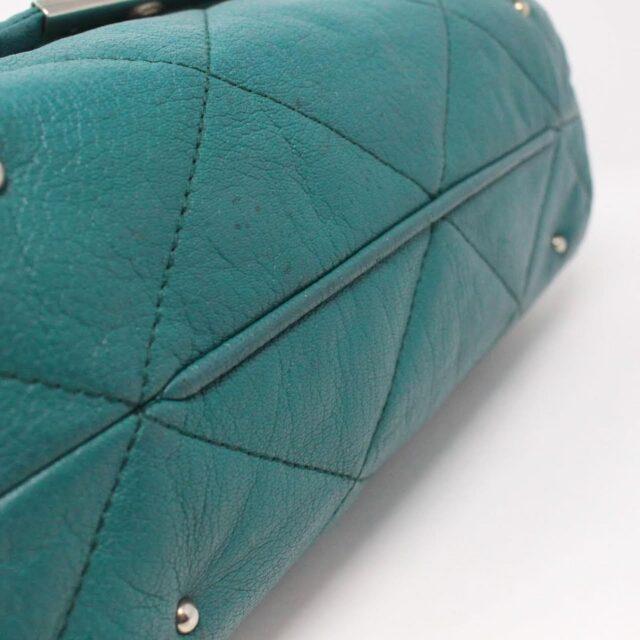 CAROLINA HERRERA Green Leather Handbag 27433 i