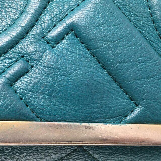 CAROLINA HERRERA Green Leather Handbag 27433 j