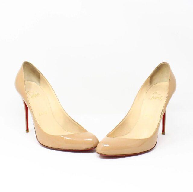 CHRISTIAN LOUBOUTIN Nude Patent Leather Heels US 9.5 EU 39.5 27474 1