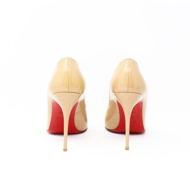CHRISTIAN LOUBOUTIN Nude Patent Leather Heels US 9.5 EU 39.5 27474 2