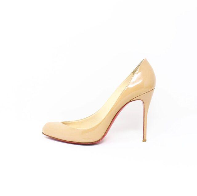 CHRISTIAN LOUBOUTIN Nude Patent Leather Heels US 9.5 EU 39.5 27474 3