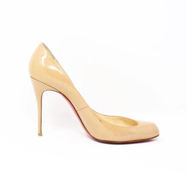 CHRISTIAN LOUBOUTIN Nude Patent Leather Heels US 9.5 EU 39.5 27474 4