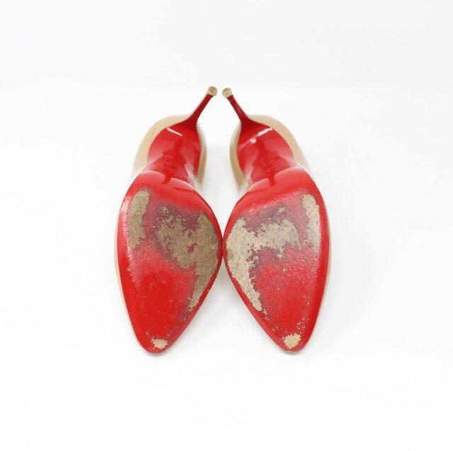 CHRISTIAN LOUBOUTIN Nude Patent Leather Heels US 9.5 EU 39.5 27474 5