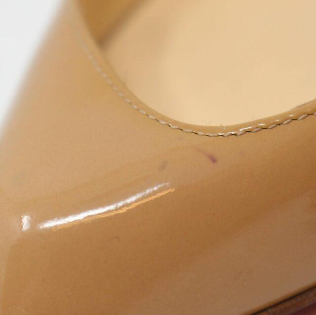 CHRISTIAN LOUBOUTIN Nude Patent Leather Heels US 9.5 EU 39.5 27474 8