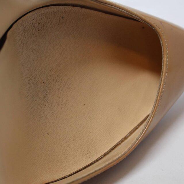 CHRISTIAN LOUBOUTIN Nude Patent Leather Heels US 9.5 EU 39.5 27474 9