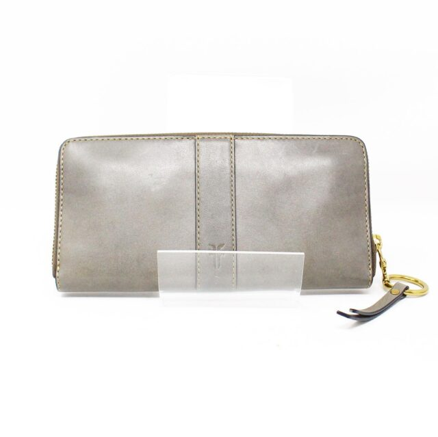 FRYE Gray Leather Wallet 28002 1