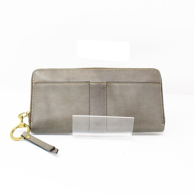 FRYE Gray Leather Wallet 28002 2