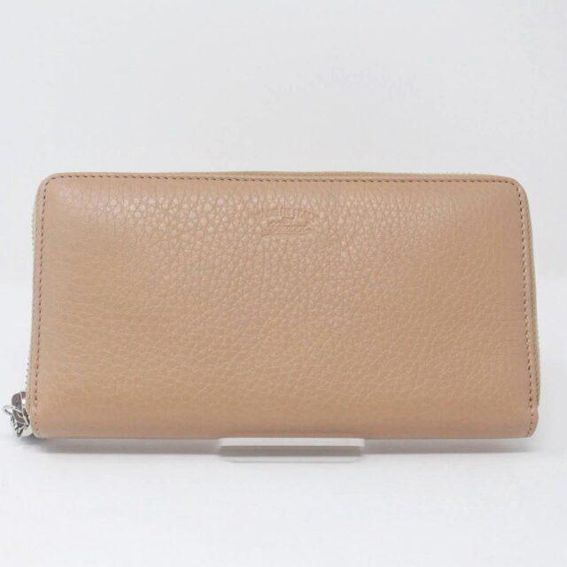 GUCCI Beige Zippy Wallet 27348 A