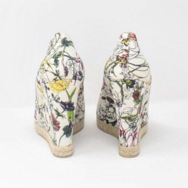GUCCI White Floral Heels US 10 EU 40 27345 b