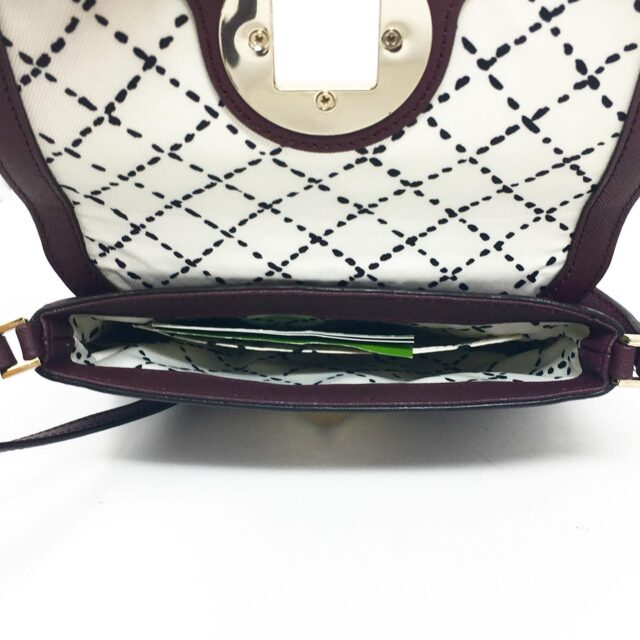 KATE SPADE Plum Leather Crossbody 27491 6