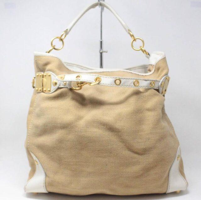 MIU MIU Beige Canapa Leather Handbag 27455 A