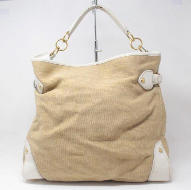 MIU MIU Beige Canapa Leather Handbag 27455 b