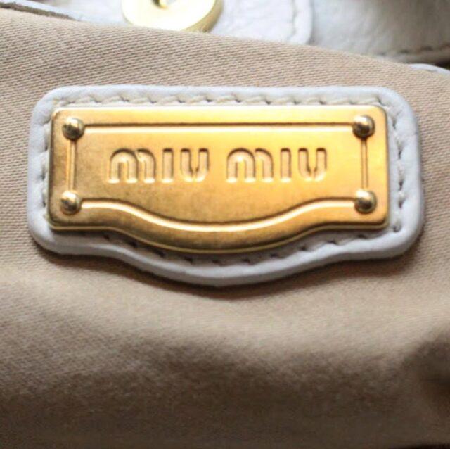 MIU MIU Beige Canapa Leather Handbag 27455 c