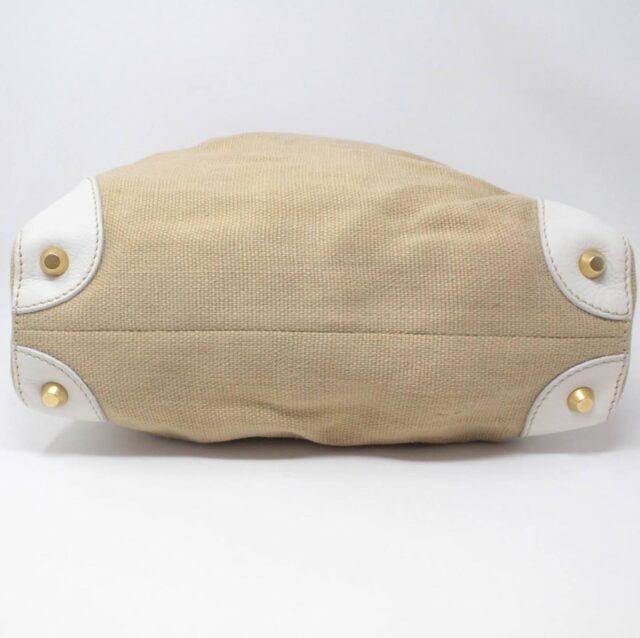 MIU MIU Beige Canapa Leather Handbag 27455 e