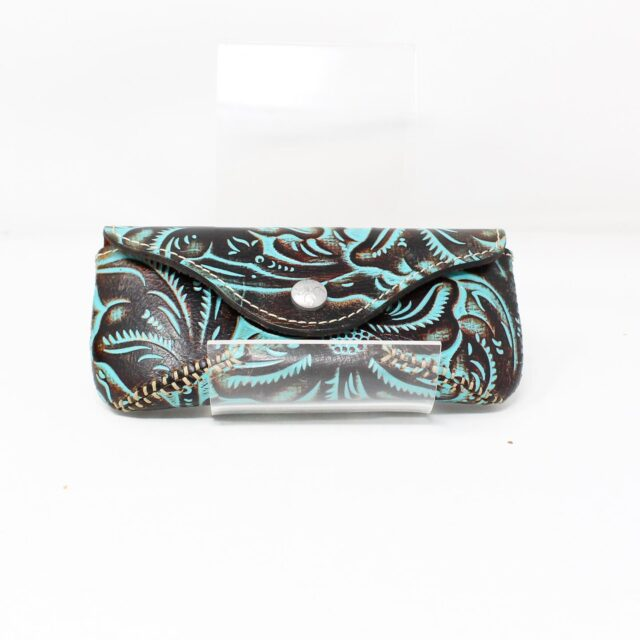 PATRICIA NASH Brown Teal Glasses Case 27996 1