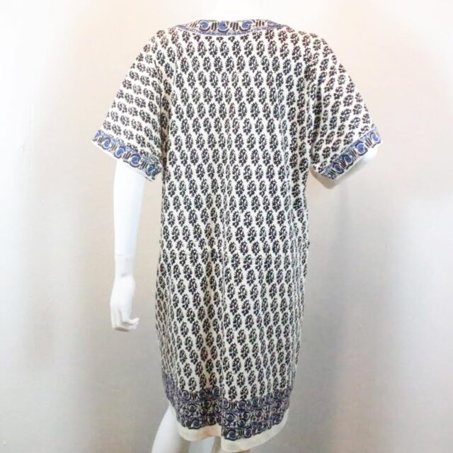 TORY BURCH Beige Black Dress Size Large 27411 c