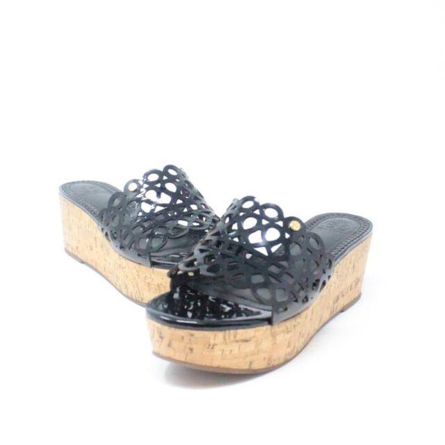 TORY BURCH Black Patent Leather Wedges US 10 EU 40 27333 b