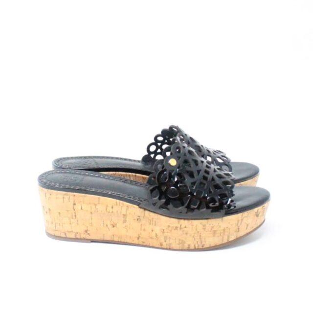 TORY BURCH Black Patent Leather Wedges US 10 EU 40 27333 c