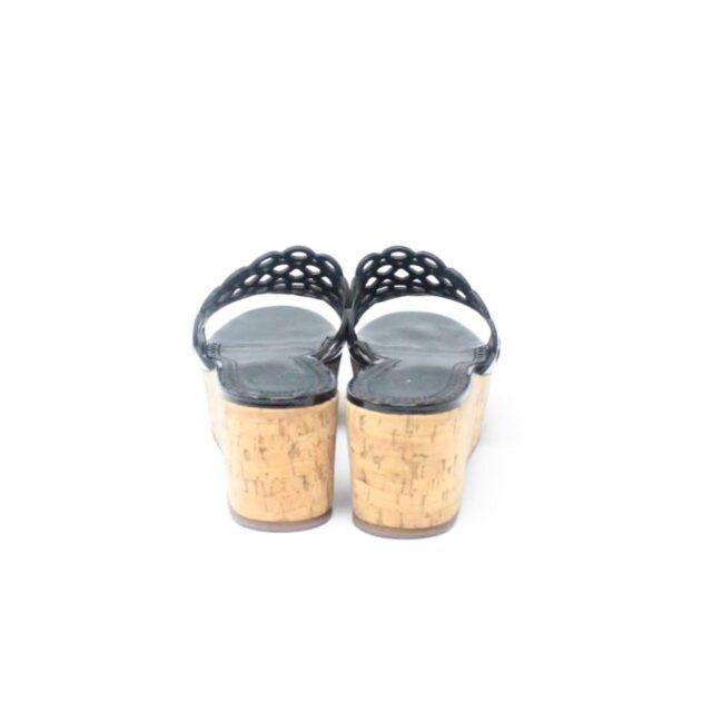 TORY BURCH Black Patent Leather Wedges US 10 EU 40 27333 d
