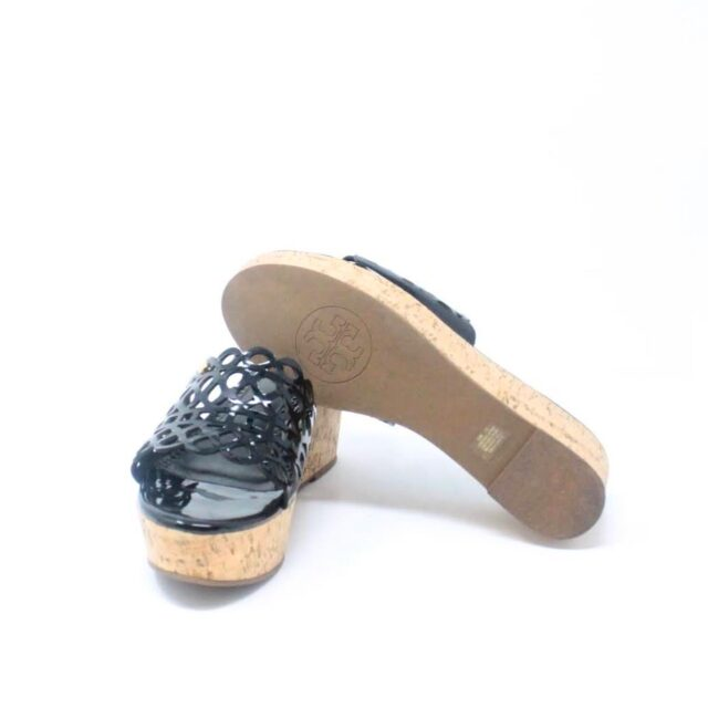 TORY BURCH Black Patent Leather Wedges US 10 EU 40 27333 e