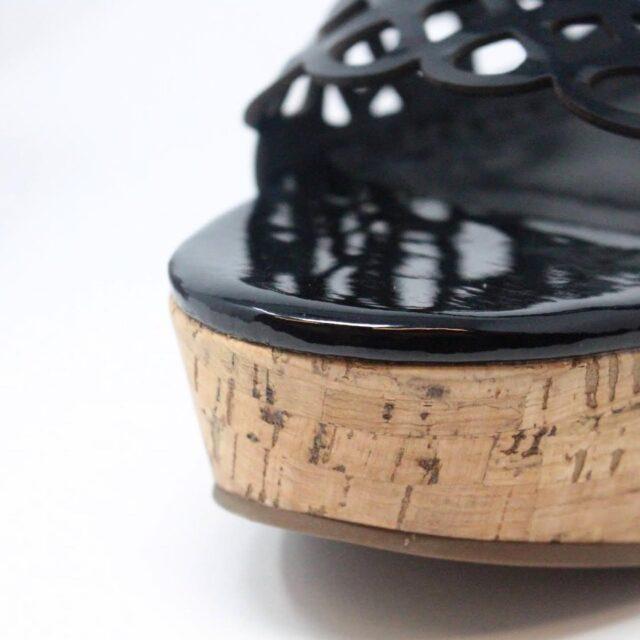 TORY BURCH Black Patent Leather Wedges US 10 EU 40 27333 f