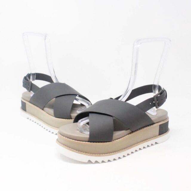 TORY BURCH Gray Leather Platform Chunky Sandals US 10 EU 40 27342 b