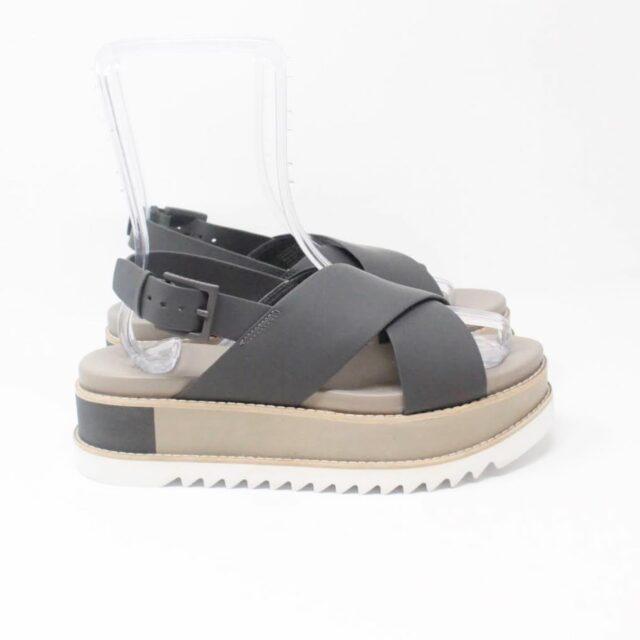 TORY BURCH Gray Leather Platform Chunky Sandals US 10 EU 40 27342 c