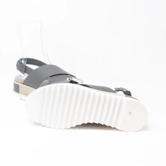 TORY BURCH Gray Leather Platform Chunky Sandals US 10 EU 40 27342 d
