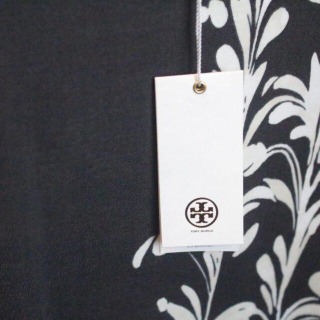 TORY BURCH Gray White Dress Size Large 27399 f