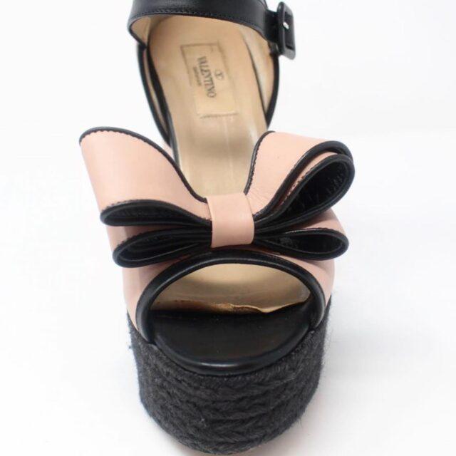 VALENTINO Black Pink Wedges US 8 EU 38 27315 h