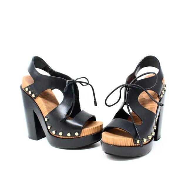 BALENCIAGA Black Leather Stud Sandals US 6 EU 36 28182 1
