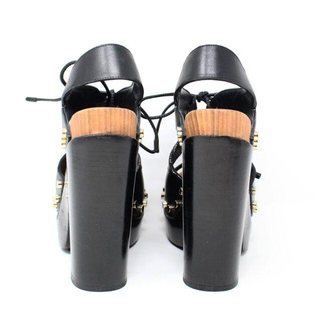 BALENCIAGA Black Leather Stud Sandals US 6 EU 36 28182 3