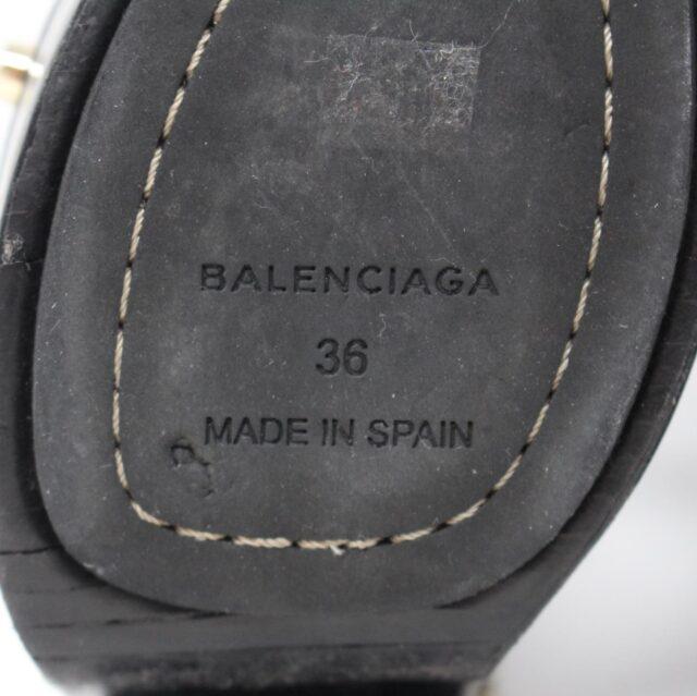 BALENCIAGA Black Leather Stud Sandals US 6 EU 36 28182 6