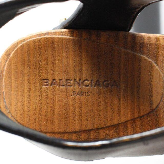 BALENCIAGA Black Leather Stud Sandals US 6 EU 36 28182 7