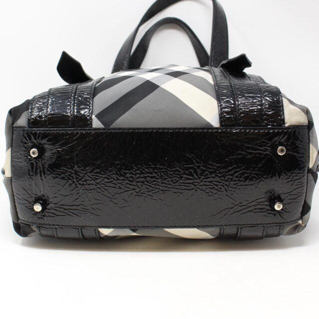 BURBERRY Gray Check Handbag 28368 3
