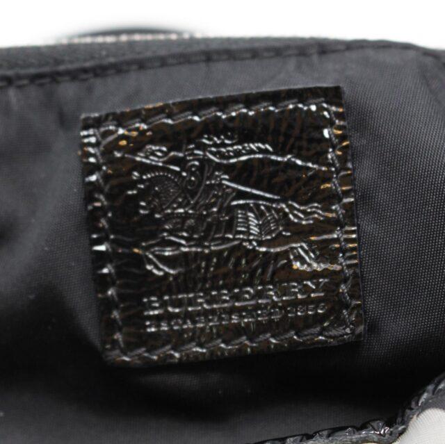 BURBERRY Gray Check Handbag 28368 4
