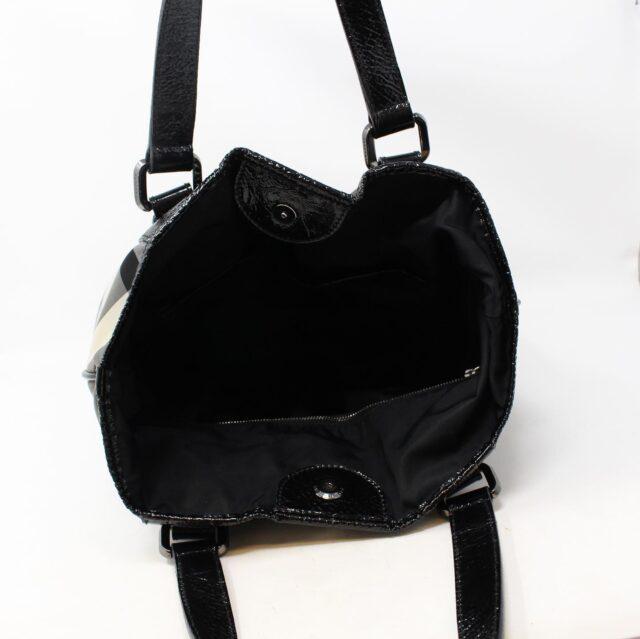 BURBERRY Gray Check Handbag 28368 5