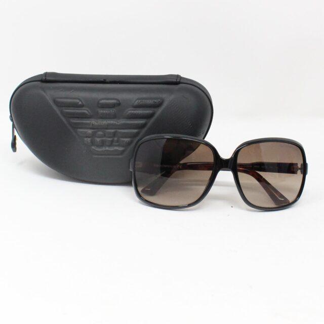 EMPORIO ARMANI Black Oval Sunglasses 28204 7