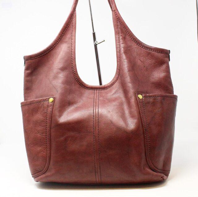 FRYE Double Pocket Maroon Leather Handbag 28004 3