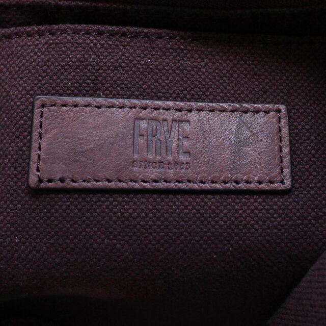FRYE Double Pocket Maroon Leather Handbag 28004 4