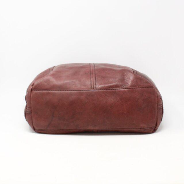 FRYE Double Pocket Maroon Leather Handbag 28004 6