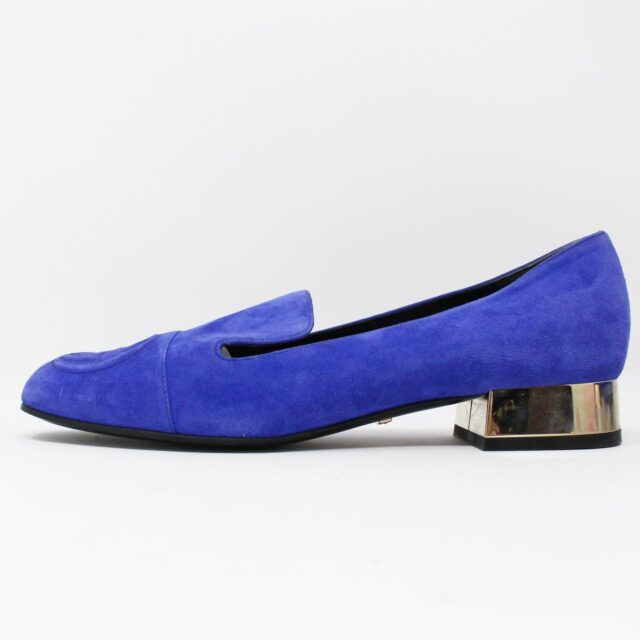GUCCI Blue Suede Leather Loafers US 7.5 EU 37.5 AYB032 3