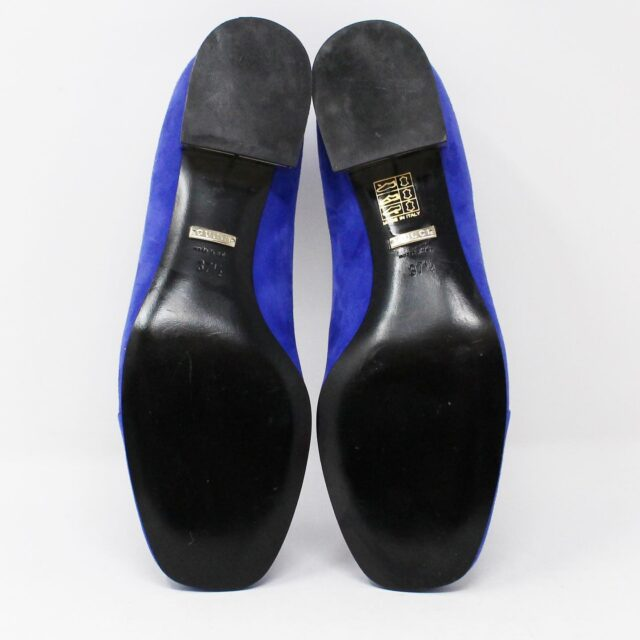 GUCCI Blue Suede Leather Loafers US 7.5 EU 37.5 AYB032 4