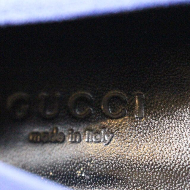 GUCCI Blue Suede Leather Loafers US 7.5 EU 37.5 AYB032 6